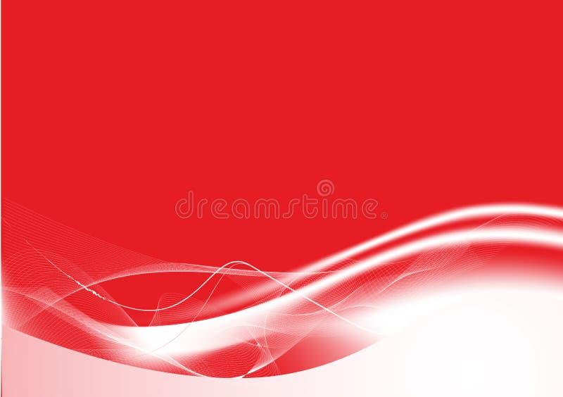 L'estratto rosso allinea la priorità bassa illustrazione vettoriale