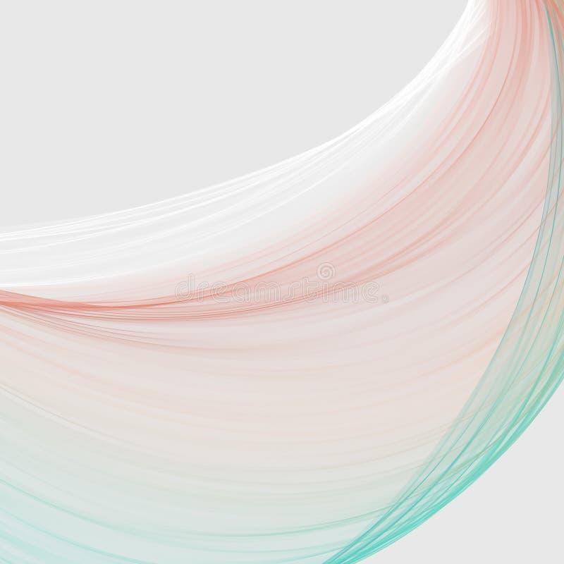 L'estratto scorrente del nastro progetta nei toni pastelli morbidi illustrazione vettoriale