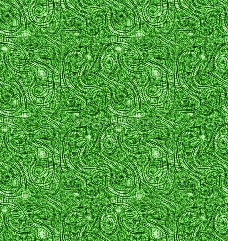 L'estratto venato il fondo senza cuciture della natura verde illustrazione di stock