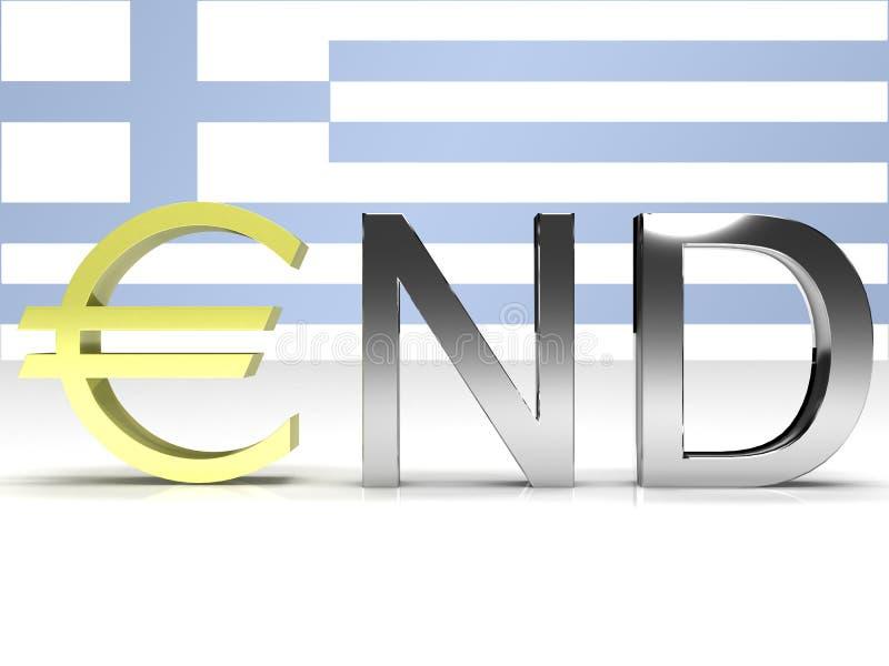 L'estremità della Grecia illustrazione di stock