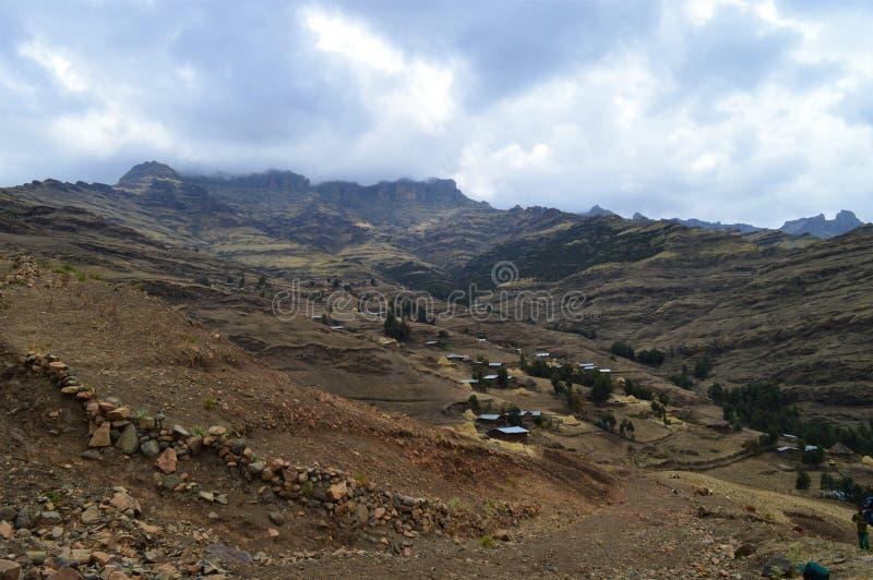 l'ethiopie Voyage aux montagnes de Simien Crevasse africaine est photographie stock