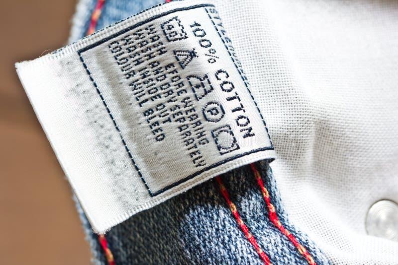 l'etichetta dell'abbigliamento fotografia stock libera da diritti