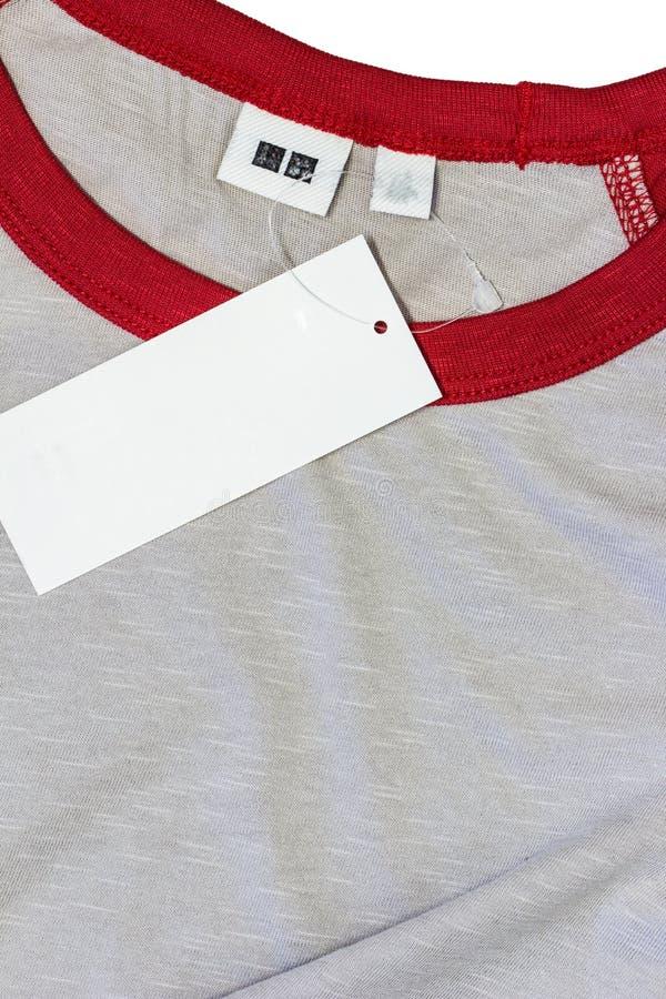 l'etichetta dell'abbigliamento fotografia stock