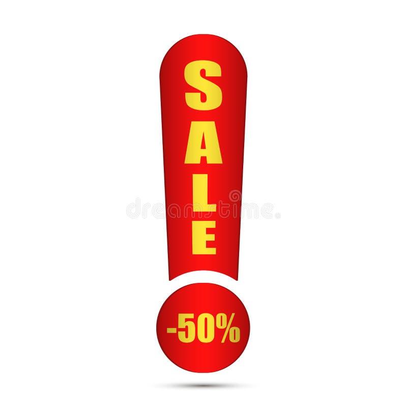 L'etichetta rossa di vendita di offerta speciale ha isolato l'illustrazione di vettore Sconti l'etichetta dei prezzi di offerta,  illustrazione di stock