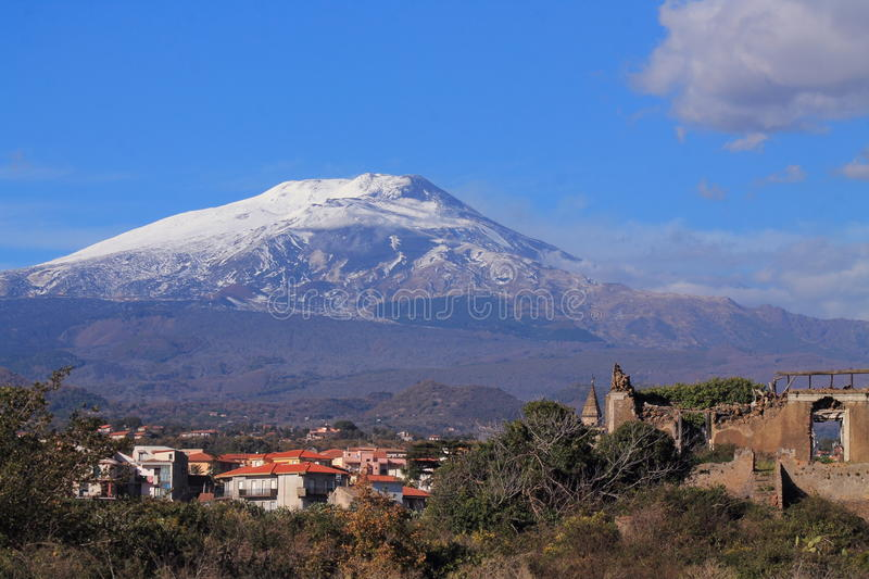 L'Etna photo stock