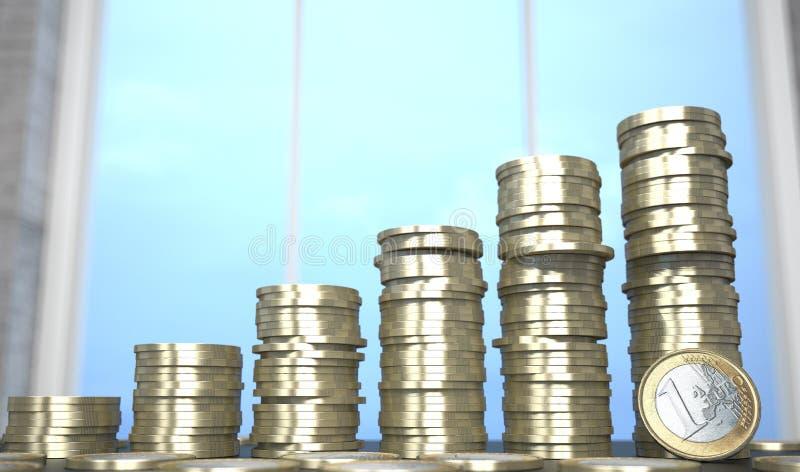 L'euro invente le diagramme illustration stock