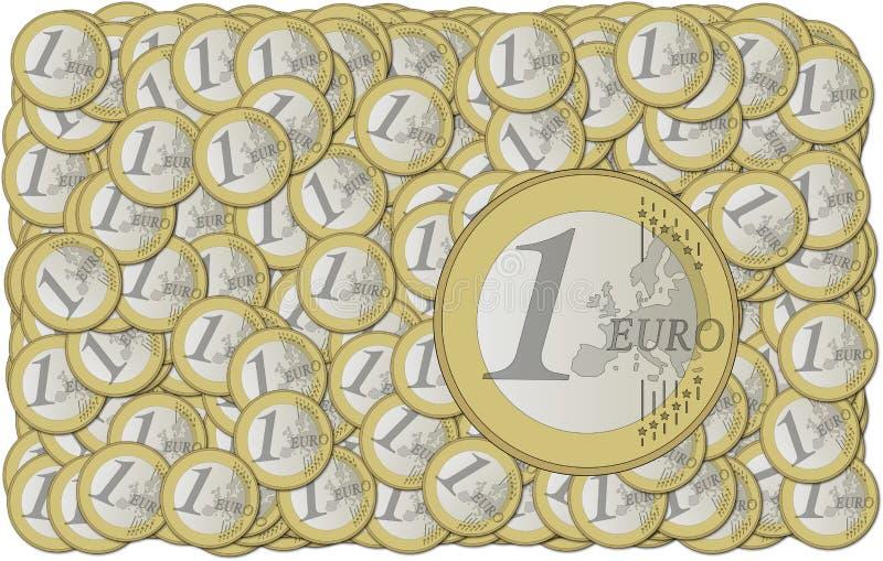 L'euro invente le papier peint illustration de vecteur