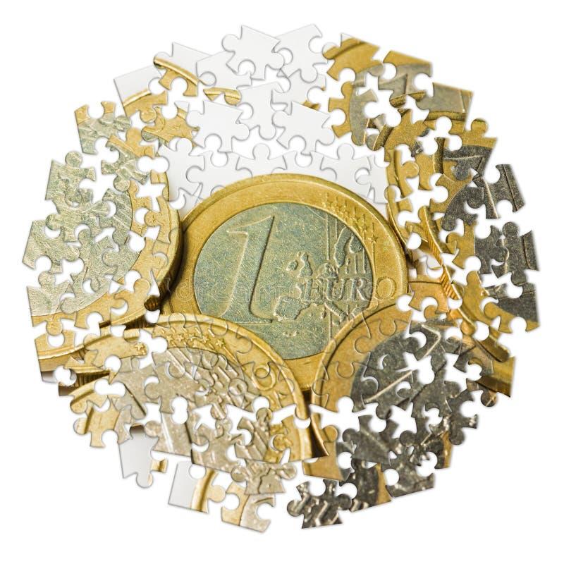 L'euro italien invente le groupe sur le fond blanc - image de concept dedans illustration stock