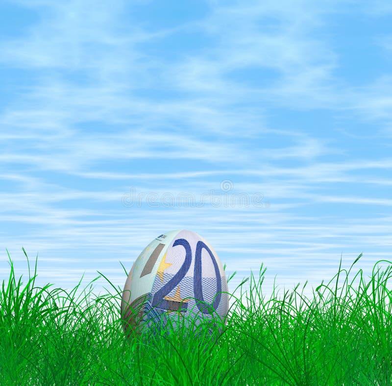 Euro oeuf de pâques de devise illustration stock