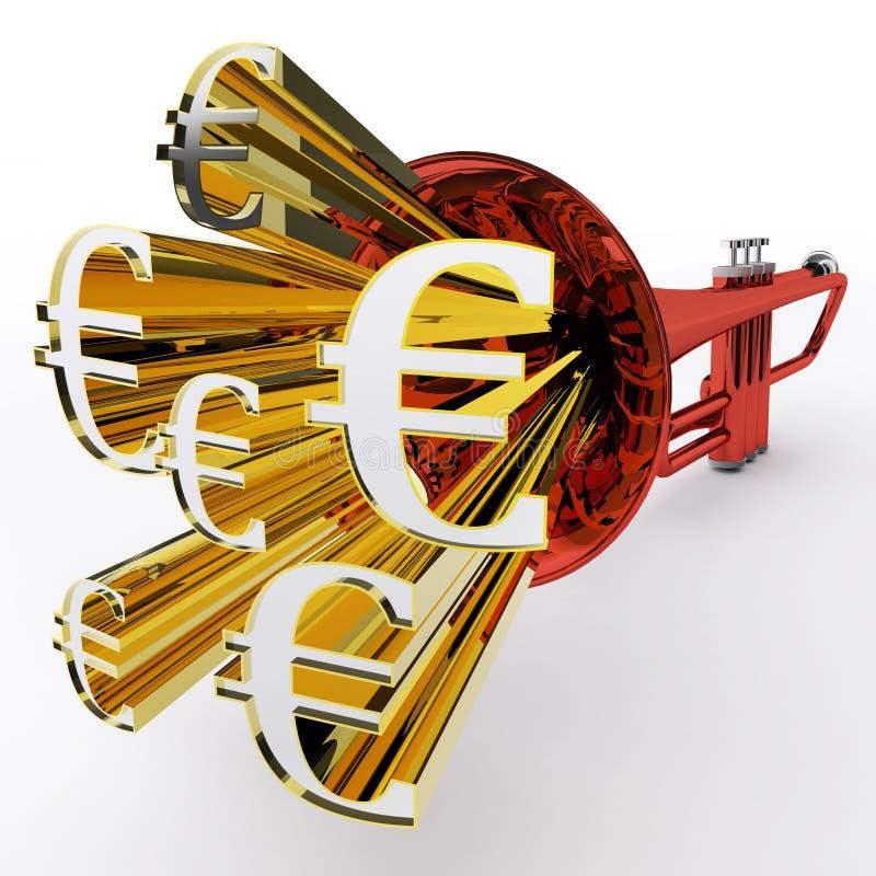 L'euro segno mostra la valuta o la ricchezza europea della Banca royalty illustrazione gratis