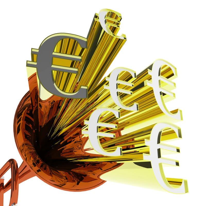 L'euro segno significa le finanze e la valuta europee royalty illustrazione gratis
