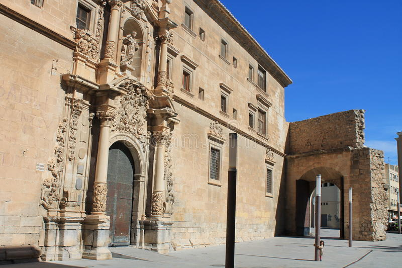 L'Europe, Espagne, Orihuela, bâtiment médiéval photographie stock libre de droits