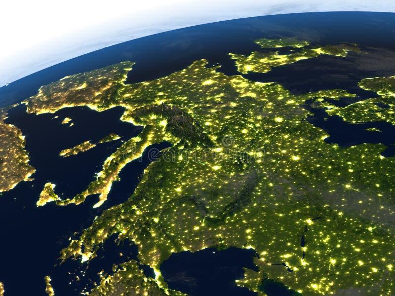 Download L'Europe La Nuit Sur Terre De Planète Illustration Stock - Illustration du foncé, europe: 87700248