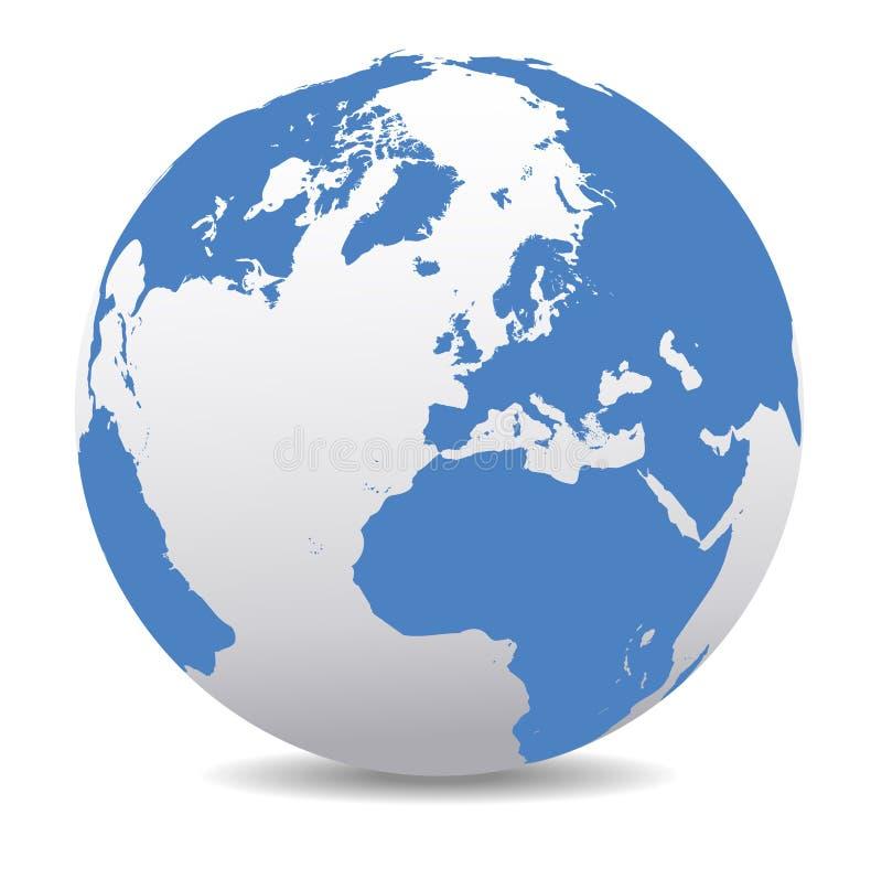 L'Europe, la Russie et l'Afrique, monde global, la terre de planète illustration libre de droits