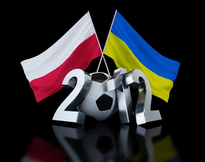 l'Europe sur le football Ukraine 2012 et Pologne illustration stock