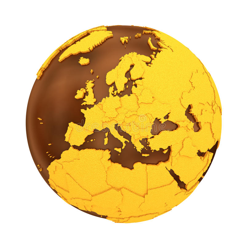 l u0026 39 europe sur terre de chocolat illustration stock
