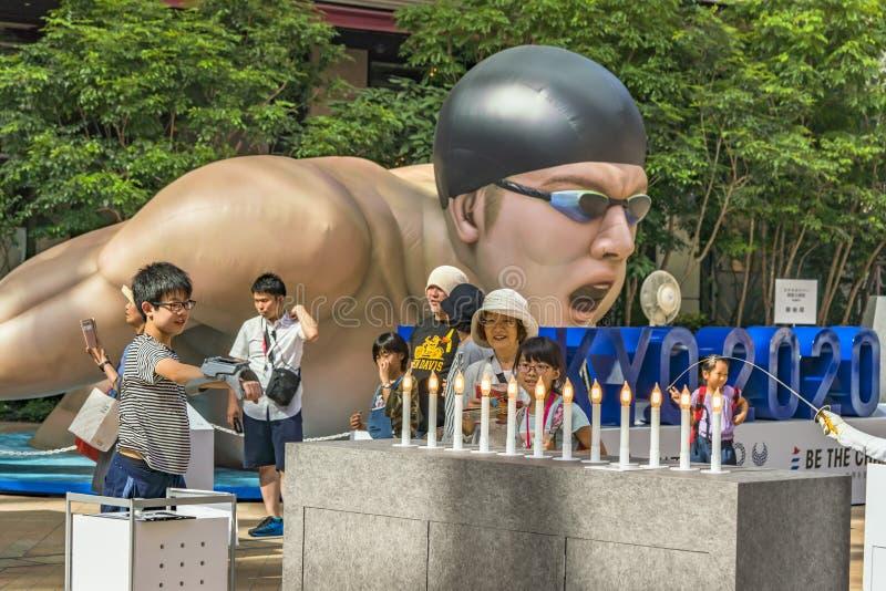 """L'evento """"è il cambiamento Tokyo 2020 """"organizzata sul tema dei giochi olimpici futuri a Tokyo nel 2020 fotografie stock"""