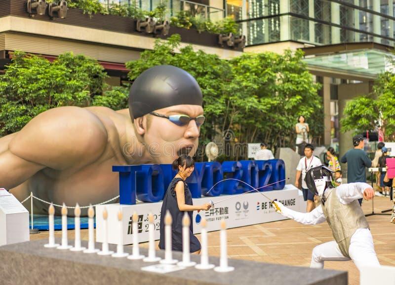 """L'evento """"è il cambiamento Tokyo 2020 """"organizzata sul tema dei giochi olimpici futuri a Tokyo nel 2020 fotografia stock libera da diritti"""
