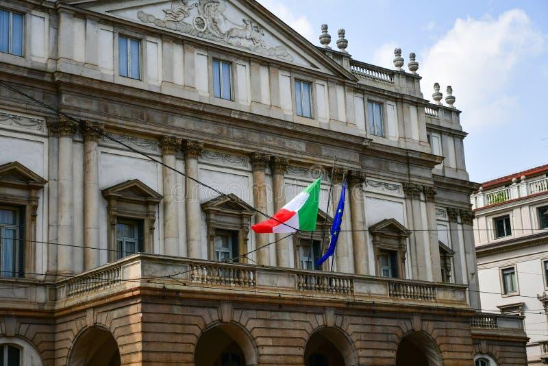 L'excange courant chez Milan Italy images libres de droits