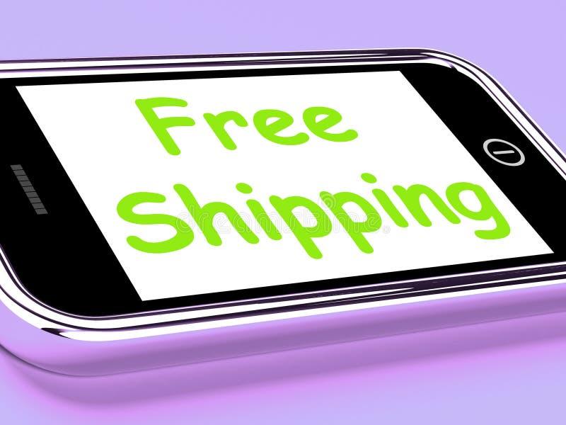 L'expédition gratuite au téléphone ne montre aucune charge ou la livre gratuitement illustration stock