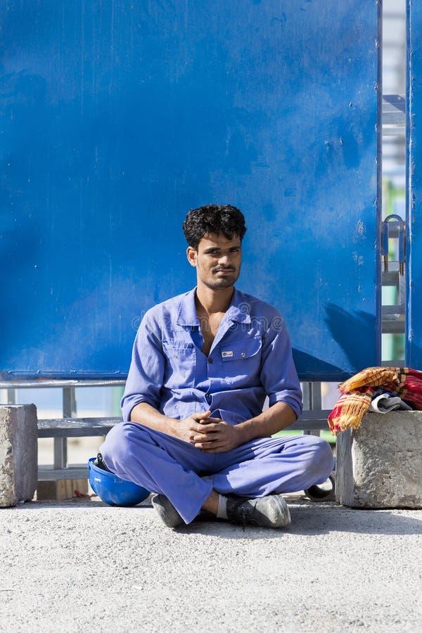 L'exploitation des travailleurs indiens à Dubaï photographie stock libre de droits