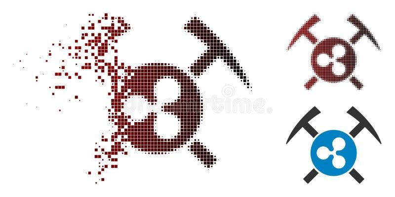 L'exploitation tramée dissoute d'ondulation de Pixelated martèle l'icône illustration libre de droits