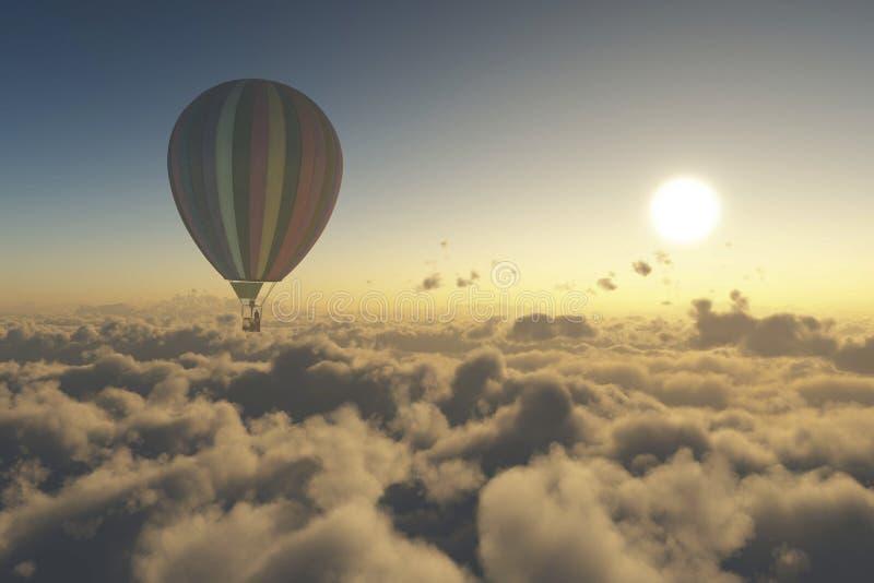 L'explorez avec le ballon à air chaud illustration libre de droits