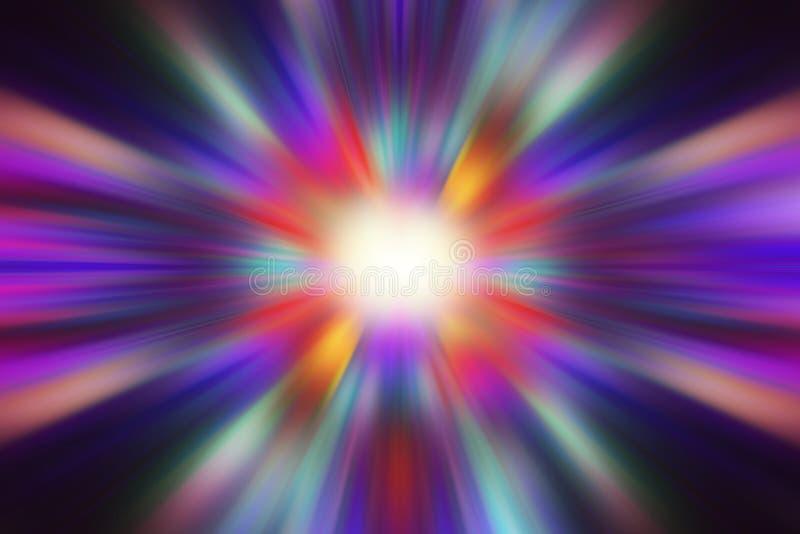 L'explosion légère pourpre et colorée abstraite effectue le fond photos stock
