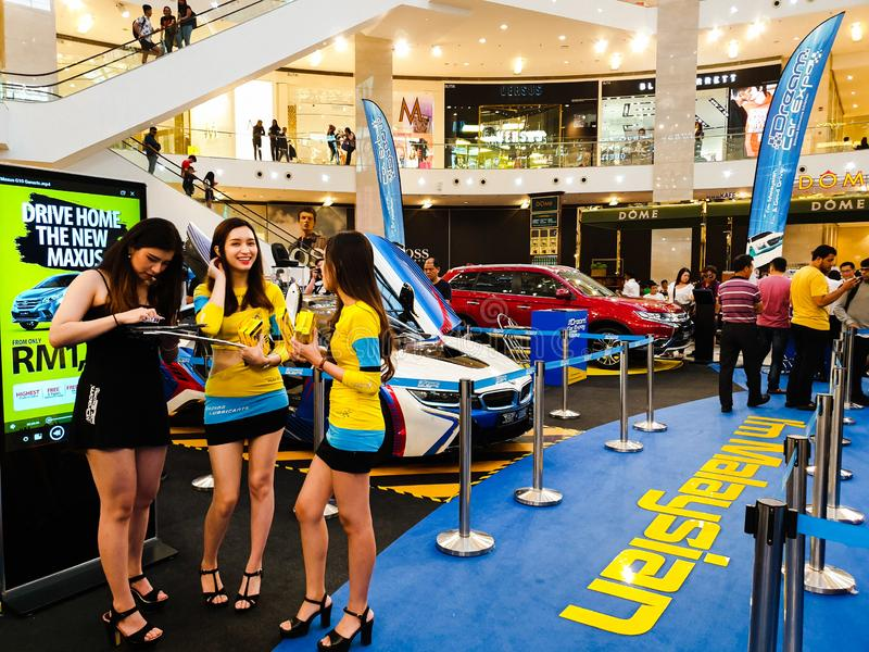 L'Expo dell'automobile di sogno, mostra automobilistica della Malesia tenuta in padiglione Kuala Lumpur a Bukit Bintang fotografie stock