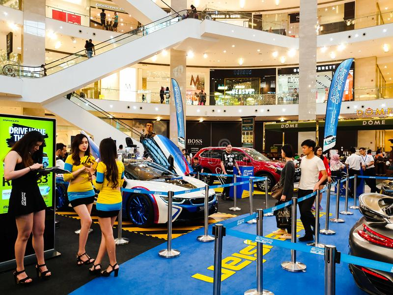 L'Expo dell'automobile di sogno, mostra automobilistica della Malesia tenuta in padiglione Kuala Lumpur a Bukit Bintang immagini stock