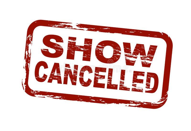 L'exposition a annulé illustration libre de droits