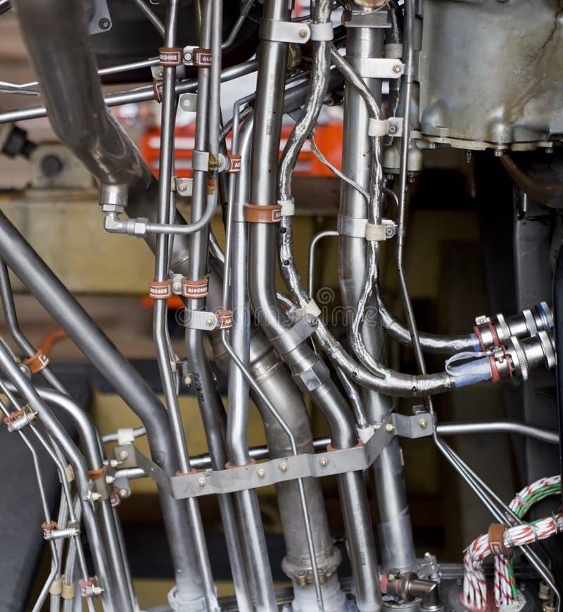 L'exposition détaillée d'un réacteur de turbine partie. image stock