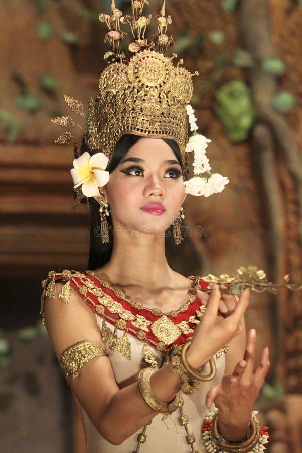 L'exposition de démo de soirée d'Angkor Vat, Cambodge photo stock