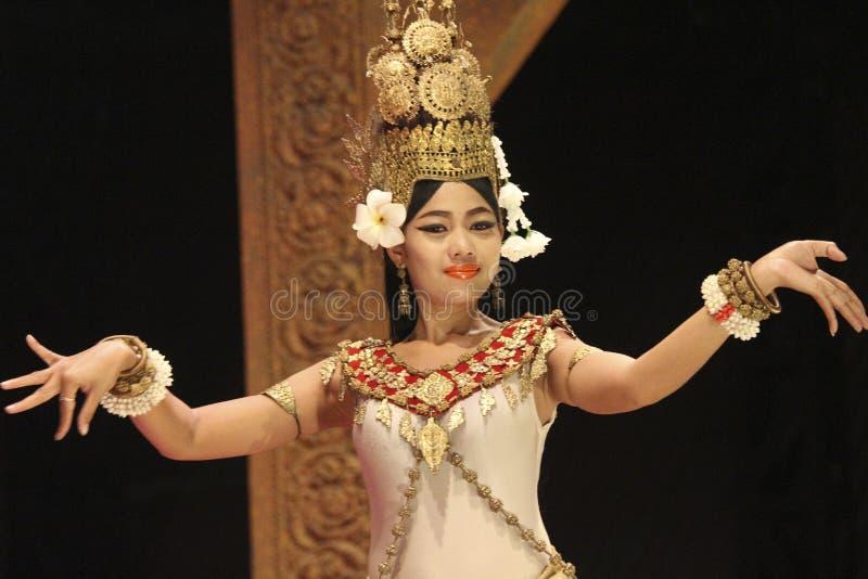 L'exposition de démo de soirée du temple d'Angkor, Cambodge photographie stock libre de droits