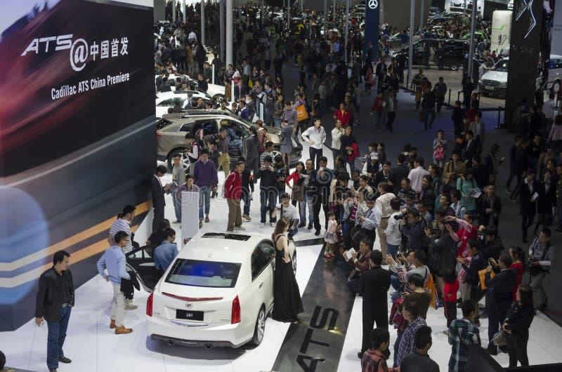 L'exposition de 2013 GZ AUTOSHOW-Cadillac donnent sur photographie stock