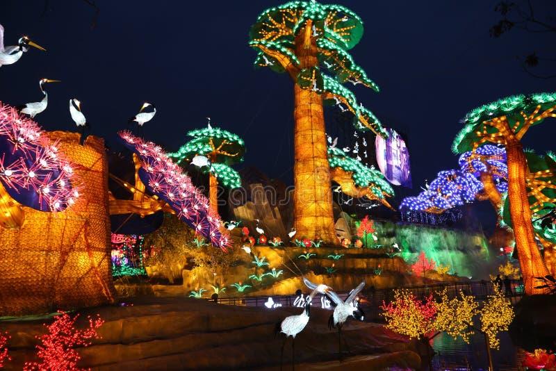 L'exposition de lanterne à Zigong, porcelaine en 2014 image stock