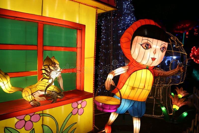 L'exposition de lanterne à Zigong, porcelaine en 2014 photo stock