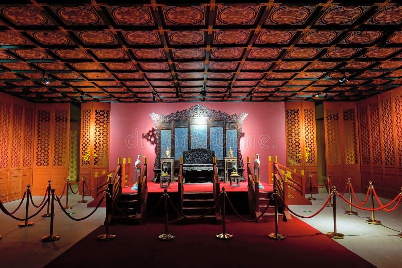 L'exposition de reliques culturelles de musée de palais photo libre de droits
