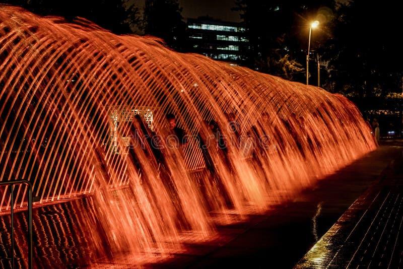 L'exposition magique de l'eau photographie stock libre de droits