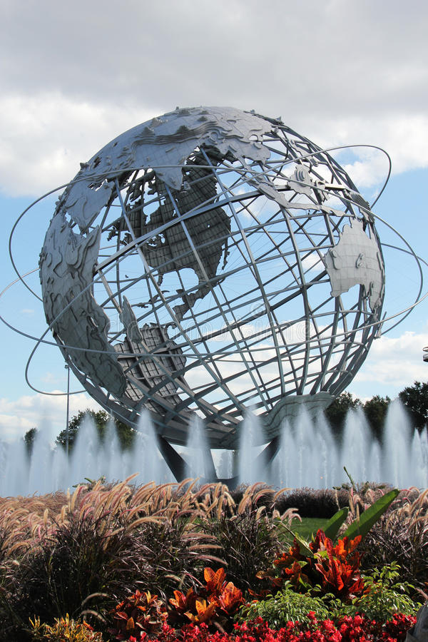 L'Exposition universelle 1964 de New York Unisphere en parc de Flushing Meadows photos stock