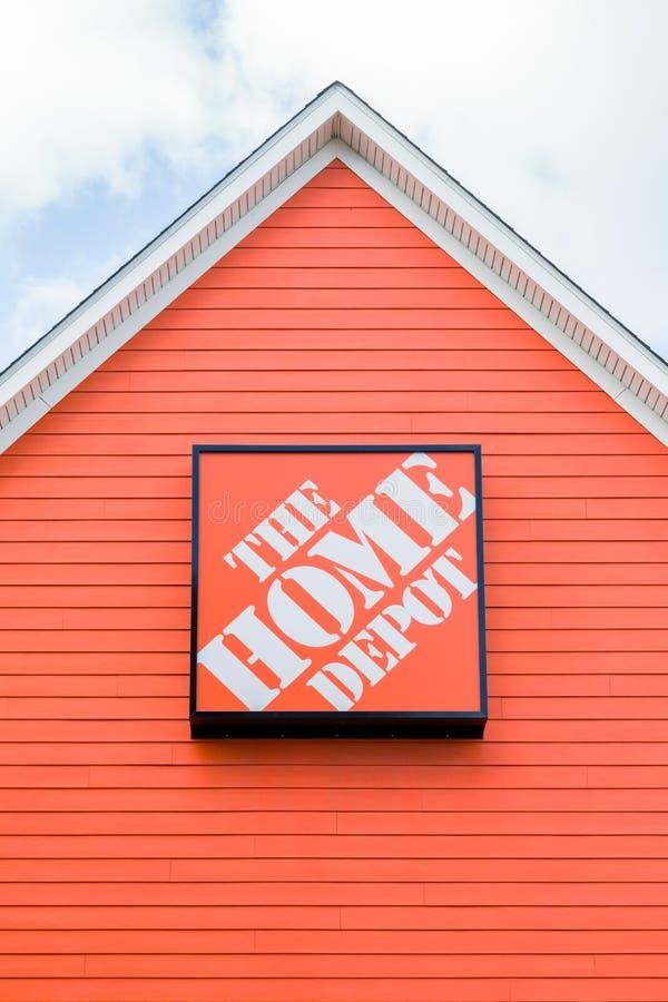 L'extérieur de Home Depot image stock