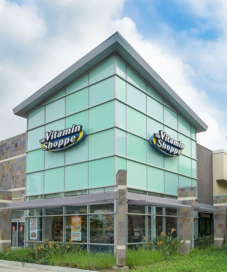 L'extérieur de magasin de vitamine images libres de droits