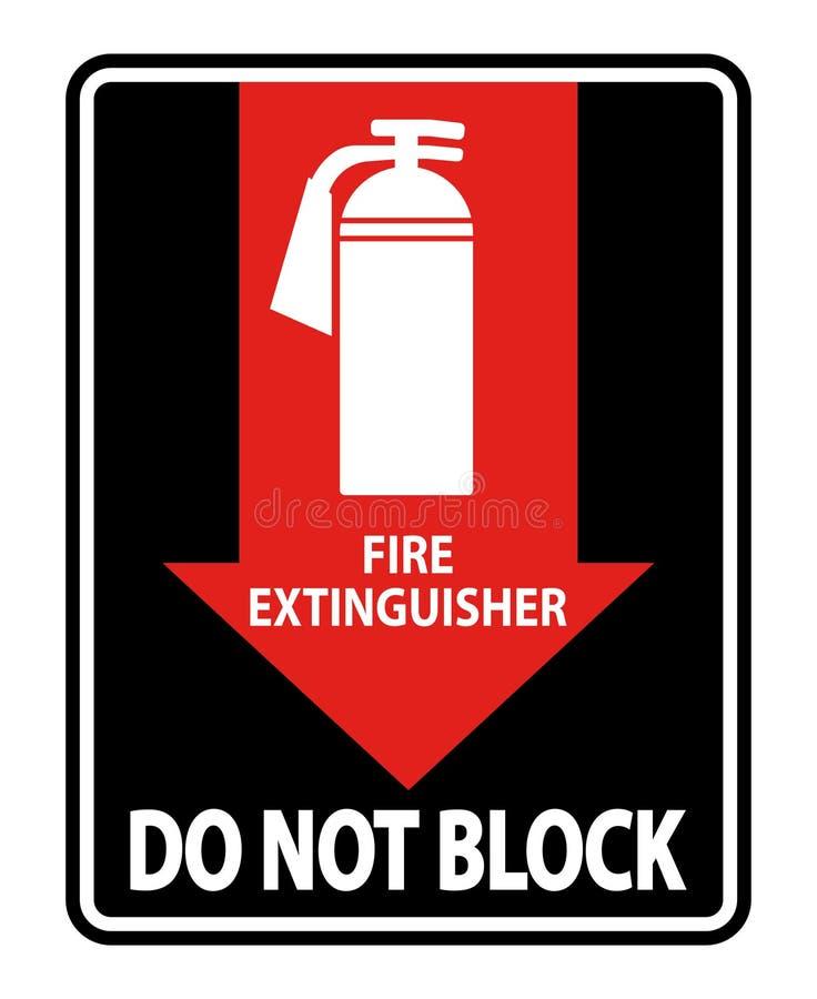 L'extincteur ne bloquent pas l'isolat de signe sur le fond blanc, illustration de vecteur illustration de vecteur