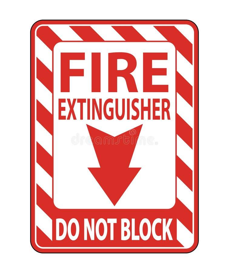 L'extincteur ne bloquent pas l'isolat de signe sur le fond blanc, illustration de vecteur illustration stock
