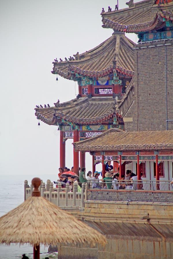 L'extrémité d'un pilier chinois photos libres de droits