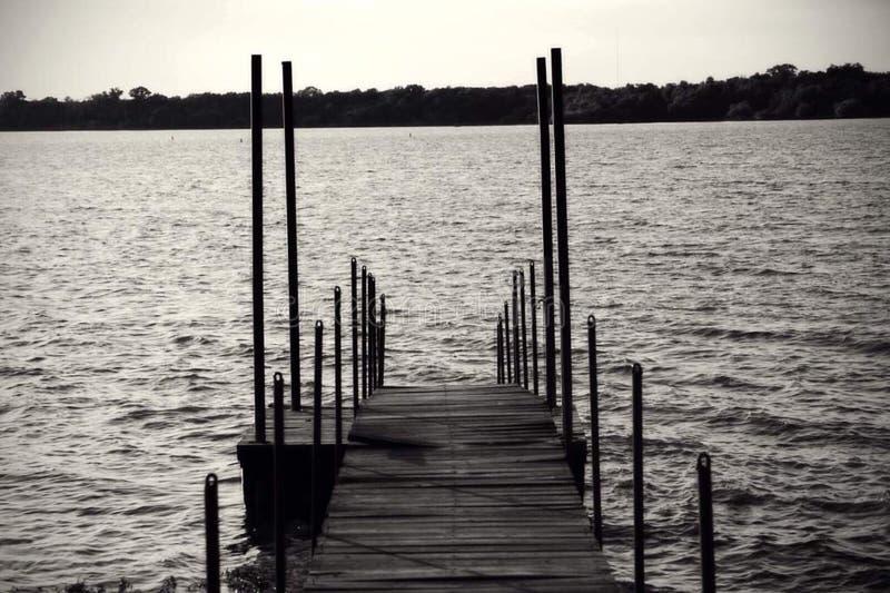 L'extrémité du dock image stock