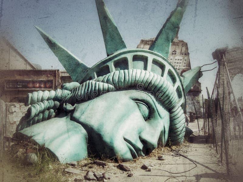 L'extrémité du monde Vision apocalyptique du futur monde photographie stock libre de droits