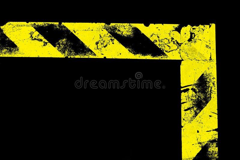 L-förmiger warnender Streifen lizenzfreie stockfotografie