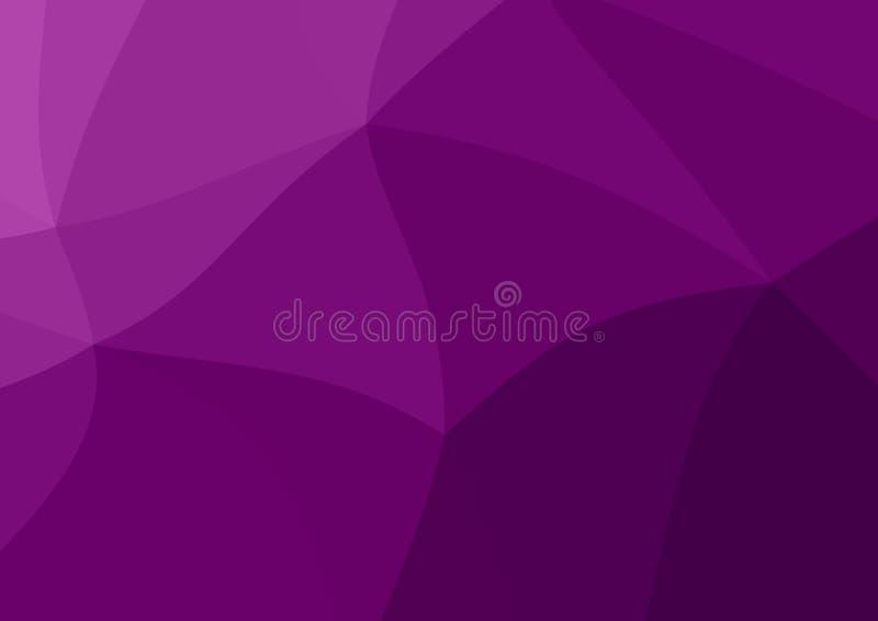 L?g poly m?rk lila, purpurf?rgad abstrakt bakgrund Geometrisk triangulering Texturerad mall vektor illustrationer
