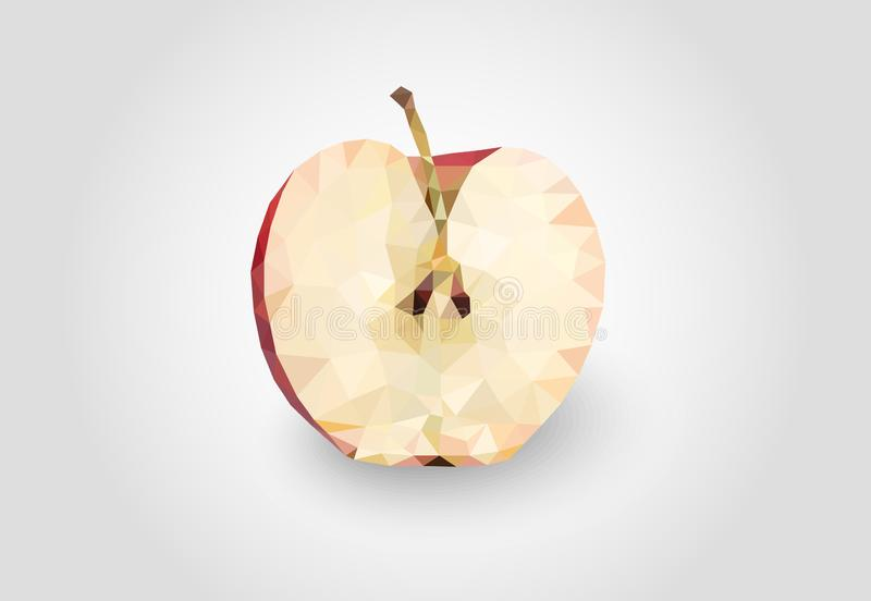 L?ga Poly Apple Passande f?r logo, bakgrund, websites, annonsering, etc. stock illustrationer